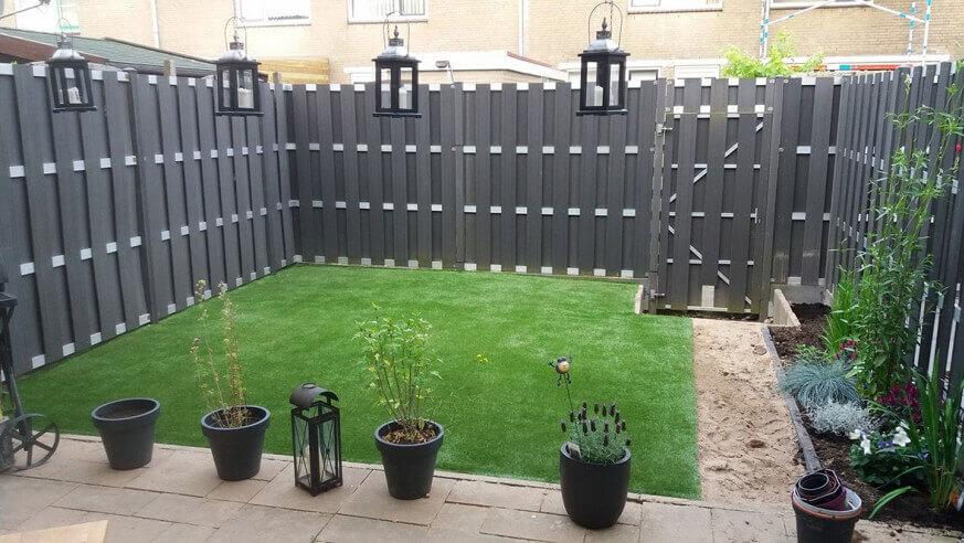 Kunstgras in de achtertuin