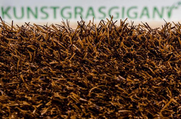 Kunstgras Gekleurd gras luxe donkerbruin